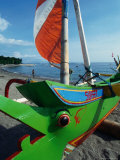 Prahu (Boat) Prow on Beach Senggigi, West Nusa Tenggara, Indonesia