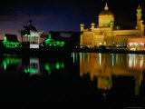 Ali Saifuddin Mosque at Night, Bandar Seri Begwan, Brunei