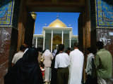 People Entering Ali El Hadi Mosque, Samarra, Salah Ad Din, Iraq
