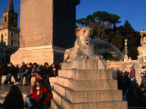 Lion Fountain at Piazza Del Poppolo, Rome, Italy