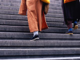 Monks Ascending Stairs in Dongcheng District Bejing, China