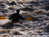 Kayaking on the Roe River, Roe Valley Country Park, Derry, Northern Ireland