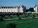 Chateua De Chenonceau and Marques Tower with Diane De Poitier's Garden in Foreground, France