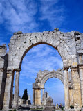 Arches of Qala'At Samaan, Ruined Basilica Built Around Pillar of St. Simeon, Halab, Syria