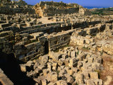 Piles of Stone Blocks at Temple D of Acropolis, Selinunte, Italy