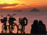 Couple at Beach at Sunrise, Nha Trang, Vietnam