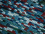Aerial of New Cars Parked in Storage at the Melbourne Docks, Melbourne, Australia