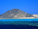 View of Rocky Island, South of Zabargad, Red Sea, Egypt