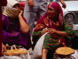 Women Selling Bread at the Market, Mary, Mary, Turkmenistan