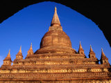 Recently Restored Cetanagyi Paya South of New Bagan, Bagan, Mandalay, Myanmar (Burma)