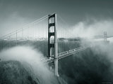 Golden Gate Bridge with Mist and Fog, San Francisco, California, USA