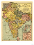 Buy India - Panoramic Map at AllPosters.com