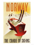 Norway - The Cradle of Skiing Art Print