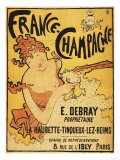 Champagne, France - E. Debray Champagne Advertisement Poster Art Print