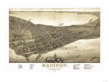 Buy Madison, Wisconsin - Panoramic Map No. 2 at AllPosters.com