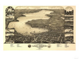 Buy Lake Geneva, Wisconsin - Panoramic Map at AllPosters.com