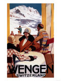 Wengen, Switzerland - The Downhill Club Promotional Poster Art Print