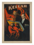 Kellar Devil and Demons with Magic Book Poster