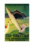 San Sebastian Vintage Poster - Europe Art Print