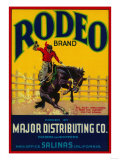 Rodeo Vegetable Label - Salinas, CA Art Print