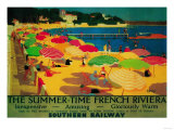 Summertime French Riviera Vintage Poster - Europe Art Print