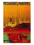 Messageries Maritimes Vintage Poster - Europe