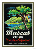 Muscat Vieux Wine Label - Europe