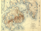 Acadia National Park - Topographic Panoramic Map
