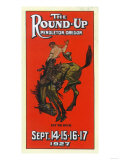 Advertisement for the Round-Up - Pendleton, OR Art Print