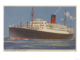 View of the Cunard R.M.L. Franconia Cruise Ship