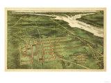 Buy Alexandria, Virginia - Panoramic Map - Alexandria, VA at AllPosters.com