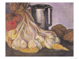Bunch of Garlic and a Pewter Tankard Giclee Print