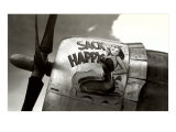 Nose Art, Sack Happy Pin-Up Giclee Print