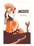 Mexcio by Rail, Senorita with Guitar