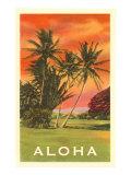 Aloha: Palm Trees Art Print