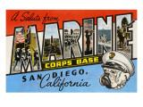 Greetings from Marine Corps., San Diego, California