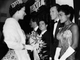 The Queen Talking to Bruce Forsythe and Eartha Kitt. November 1958