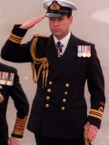 Prince Andrew Inspects Sea Scouts at Trafalgar Square During the Annual Trafalgar Day Service