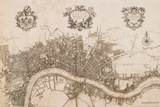 Plan of the City of London, 1720 Art Print