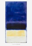 Untitled (Blue, Dark Blue, Yellow)