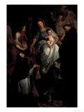 Madonna, Saint Hubert and Saint Nicholas Giclee Print