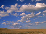 Cumulus Clouds Boiling Over a Wyoming Prairie in Late Summer Photographic Print