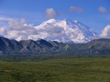 Mt. Mckinley and Cumulus Clouds in Late Morning Light Photographic Print