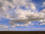 Cumulus Clouds Floating Above Grasslands During Short Rainy Season Photographic Print
