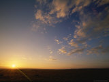 Sunrise Over Open Grasslands in the Masai Mara National Reserve Photographic Print
