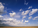 Cumulus Clouds Above Grasslands During the Short Rainy Season Photographic Print