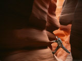 Hiker in Antelope Canyon, Arizona