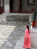 Woman Walking Through Summer Palace