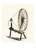 Colonial Spinning Wheel