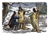 Roger Williams Welcomed by Rhode Island Native Americans, 1635
